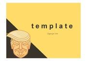 트럼프PPT템플릿 미국 정치인 트럼프