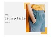 패션ppt템플릿 오렌지티와 블루팬츠