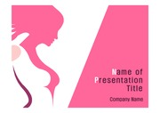 PPT양식 템플릿 배경(핑크) - 유방암1
