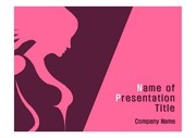 PPT양식 템플릿 배경(핑크) - 유방암2