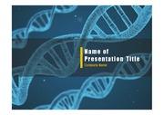 PPT양식 템플릿 배경 - 의학, 유전자1