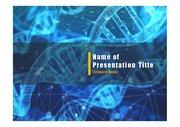 PPT양식 템플릿 배경 - 의학, 유전자2