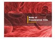 PPT양식 템플릿 배경 - 의학, 혈액