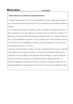 캠퍼스 프랑스 비자 발급용 동기서/모띠바씨옹