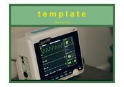 PPT템플릿 심장박동, 의료