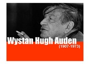 W.H.Auden의 생애,작품세계와 특징,스페인 전쟁