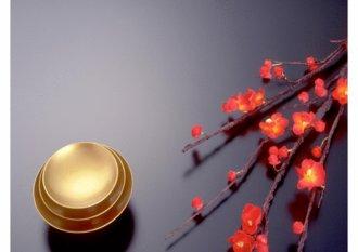 파워포인트 디자인 심플 일본 매화 잔