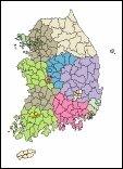 [디자인]전국 지도 ai 벡터파일