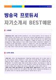 ● 방송국 프로듀서(PD) 자기소개서 실전우수예문 [MBC KBS SBS CJ E&M 공통지원 자소서 자기소개서샘플/취업자료]