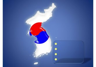 <strong>파워포인트</strong> 2007용 한반도지도(대한민국, <strong>북한</strong>포함) 디자인 다이어그램입니다