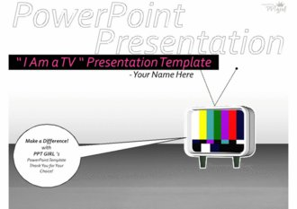 ` I Am a TV ` presentation template