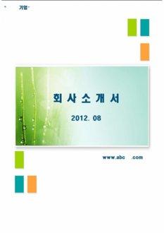 심플 회사소개서 (회사 소개서 폼)