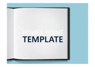 책을 펼친 모양의 파워포인트 템플릿