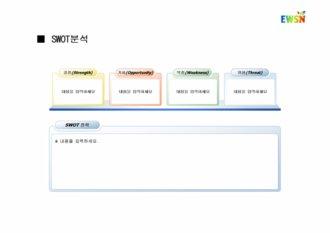 파워포인트, 프레젠테이션, 프리젠테이션, PPT, 비즈니스, 사업계획서, 시장마케팅, 전략, SWOT분석, 내용분석형4