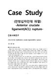 [성인간호학][ACL rupture][십자인대파열][Anterior cruciate ligament rupture] 케이스 스터디(Case Study), 문헌고찰