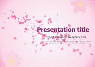 [ppt템플릿] 깔끔한 분홍꽃 파워포인트 배경 디자인 양식 테마