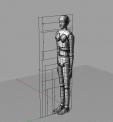 라이노 인간 160cm 여자 3D 파일