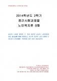 [교육학과] 2014년 2학기 노인복지론 중간시험과제물 B형(성공적 노화모델과 SOC Model)