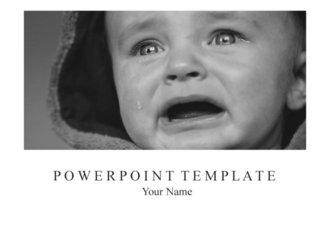 PPT양식 우는아이, 아동학대 테마 템플릿