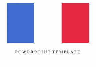 PPT 양식 프랑스 템플릿