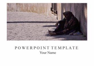 PPT 양식 빈곤, 복지, 개발 도상국 주제 템플릿