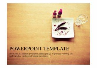 PPT 양식 음식, 요리 템플릿 디자인