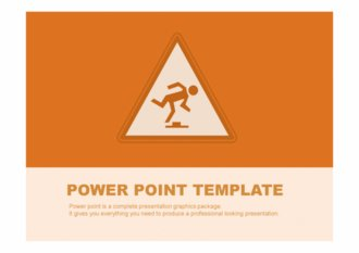 PPT 양식 안전 테마 템플릿