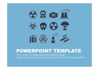 PPT 양식 원자력, 핵 테마 템플릿