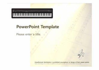 [음악 PPT배경] - 피아노 건반 음표 악보 음악 템플릿 음악관련PPT 실용음악 배경파워포인트 PowerPoint PPT 프레젠테이션