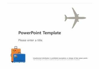 [해외여행 PPT배경] - 해외여행 항공 비행기 가방 케리어 배낭여행 유럽여행 세계여행 배경파워포인트 PowerPoint PPT 프레젠테이션