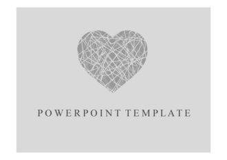 PPT 양식 사랑, 하트테마 템플릿