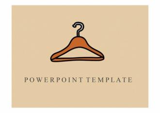 PPT 양식 옷걸이 디자인 템플릿