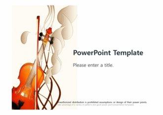 [바이올린 현악기 PPT배경] - 바이올린 연주회 현악기 악기 음악 클래식 연주 배경파워포인트 PowerPoint PPT 프레젠테이션
