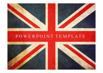 PPT 양식 영국 국기 디자인 템플릿