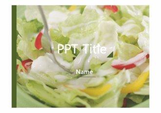 깔끔한 피피티 배경 양식 - 야채식품 배경 ppt