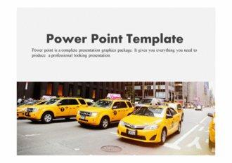 PPT양식 택시 템플릿