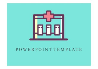 PPT 양식 병원, 간호, 의료 테마 템플릿