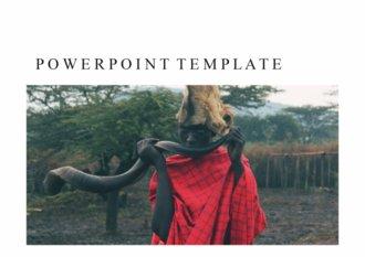 PPT 양식 아프리카 케냐 테마 템플릿