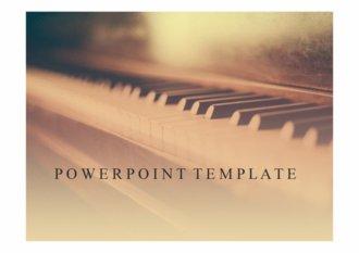 PPT양식 피아노, 클래식 음악 템플릿