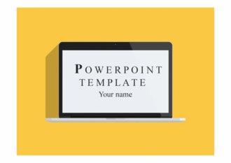 PPT양식 맥북, 컴퓨터 플랫디자인 템플릿