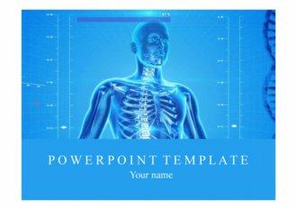 PPT 양식 인체, DNA 템플릿