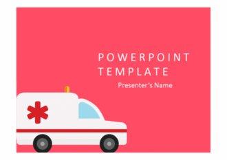 PPT양식 앰뷸런스, 의료 템플릿