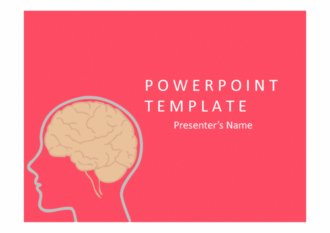 PPT양식 뇌(브레인) 테마 템플릿