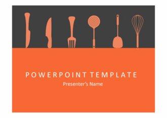 PPT양식 요리테마, 요리도구 템플릿