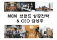 MCM 브랜드 성공전략& CEO김성주