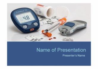 PPT양식 당뇨병 주제 템플릿