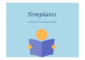 PPT양식 독서 템플릿