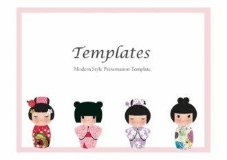 PPT양식 일본인형 템플릿