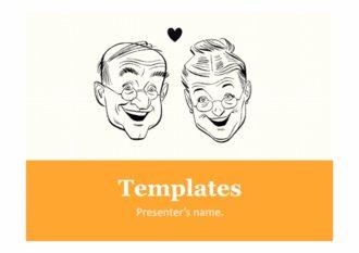 PPT양식 웃고있는 노인 템플릿