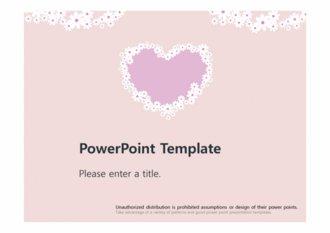 [예쁜 꽃하트 PPT배경] - 꽃 하트 사랑 따뜻한 예쁜 심플한 보라색하트 배경파워포인트 PowerPoint PPT 프레젠테이션